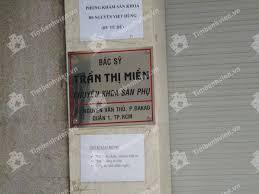 Phòng khám sản phụ khoa – Bác sĩ Trần Thị Miền